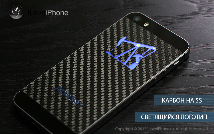 замена корпуса iphone 5S, карбоновый корпус на iphone 5S, custom iphone 5S, moding iphone